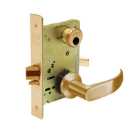 LC-8256-LNP-10 Sargent 8200 Series Office or Inner Entry Mortise Lock with LNP Lever Trim Less Cylinder in Dull Bronze