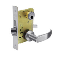 LC-8224-LNP-26D Sargent 8200 Series Room Door Mortise Lock with LNP Lever Trim and Deadbolt in Satin Chrome