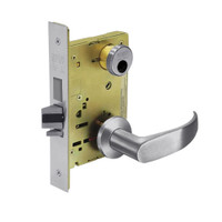 LC-8235-LNP-26D Sargent 8200 Series Storeroom Mortise Lock with LNP Lever Trim and Deadbolt in Satin Chrome