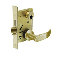 LC-8235-LNP-04 Sargent 8200 Series Storeroom Mortise Lock with LNP Lever Trim and Deadbolt in Satin Brass