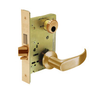 LC-8235-LNP-10 Sargent 8200 Series Storeroom Mortise Lock with LNP Lever Trim and Deadbolt in Dull Bronze
