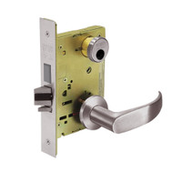 LC-8235-LNP-32D Sargent 8200 Series Storeroom Mortise Lock with LNP Lever Trim and Deadbolt in Satin Stainless Steel