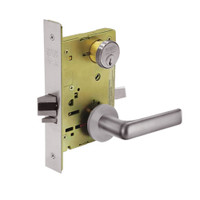 8267-LNE-32D Sargent 8200 Series Institutional Privacy Mortise Lock with LNE Lever Trim in Satin Stainless Steel