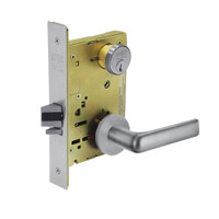 8231-LNE-26D Sargent 8200 Series Utility Mortise Lock with LNE Lever Trim in Satin Chrome