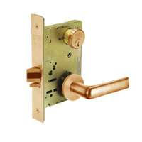 8231-LNE-10 Sargent 8200 Series Utility Mortise Lock with LNE Lever Trim in Dull Bronze