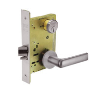 8231-LNE-32D Sargent 8200 Series Utility Mortise Lock with LNE Lever Trim in Satin Stainless Steel