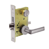 8224-LNE-32D Sargent 8200 Series Room Door Mortise Lock with LNE Lever Trim and Deadbolt in Satin Stainless Steel