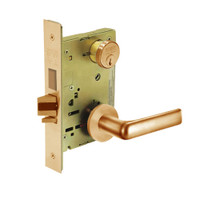8235-LNE-10 Sargent 8200 Series Storeroom Mortise Lock with LNE Lever Trim and Deadbolt in Dull Bronze
