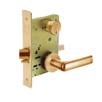 8217-LNE-10 Sargent 8200 Series Asylum or Institutional Mortise Lock with LNE Lever Trim in Dull Bronze
