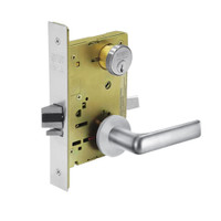 8259-LNE-26 Sargent 8200 Series School Security Mortise Lock with LNE Lever Trim in Bright Chrome