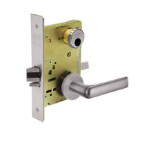 LC-8255-LNE-32D Sargent 8200 Series Office or Entry Mortise Lock with LNE Lever Trim Less Cylinder in Satin Stainless Steel