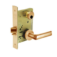 LC-8231-LNE-10 Sargent 8200 Series Utility Mortise Lock with LNE Lever Trim Less Cylinder in Dull Bronze