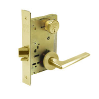 8231-LNF-03 Sargent 8200 Series Utility Mortise Lock with LNF Lever Trim in Bright Brass