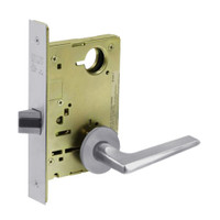 8213-LNF-26D Sargent 8200 Series Communication or Exit Mortise Lock with LNF Lever Trim in Satin Chrome