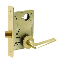 8213-LNF-03 Sargent 8200 Series Communication or Exit Mortise Lock with LNF Lever Trim in Bright Brass