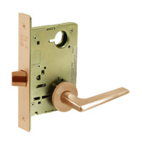 8213-LNF-10 Sargent 8200 Series Communication or Exit Mortise Lock with LNF Lever Trim in Dull Bronze