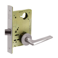 8213-LNF-32D Sargent 8200 Series Communication or Exit Mortise Lock with LNF Lever Trim in Satin Stainless Steel
