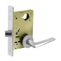 8215-LNF-26 Sargent 8200 Series Passage or Closet Mortise Lock with LNF Lever Trim in Bright Chrome