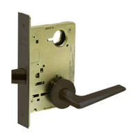 8215-LNF-10B Sargent 8200 Series Passage or Closet Mortise Lock with LNF Lever Trim in Oxidized Dull Bronze