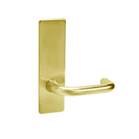 ML2070-LWM-605 Corbin Russwin ML2000 Series Mortise Full Dummy Locksets with Lustra Lever in Bright Brass