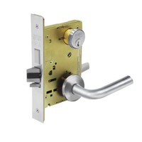 8224-LNW-26 Sargent 8200 Series Room Door Mortise Lock with LNW Lever Trim and Deadbolt in Bright Chrome