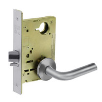 8213-LNW-26D Sargent 8200 Series Communication or Exit Mortise Lock with LNW Lever Trim in Satin Chrome
