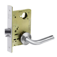 8213-LNW-26 Sargent 8200 Series Communication or Exit Mortise Lock with LNW Lever Trim in Bright Chrome