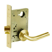8213-LNW-03 Sargent 8200 Series Communication or Exit Mortise Lock with LNW Lever Trim in Bright Brass