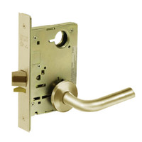 8213-LNW-04 Sargent 8200 Series Communication or Exit Mortise Lock with LNW Lever Trim in Satin Brass