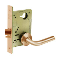 8213-LNW-10 Sargent 8200 Series Communication or Exit Mortise Lock with LNW Lever Trim in Dull Bronze