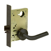 8213-LNW-10B Sargent 8200 Series Communication or Exit Mortise Lock with LNW Lever Trim in Oxidized Dull Bronze