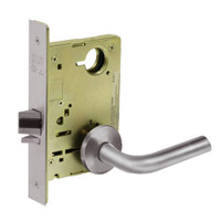 8213-LNW-32D Sargent 8200 Series Communication or Exit Mortise Lock with LNW Lever Trim in Satin Stainless Steel
