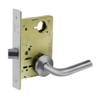 8215-LNW-26D Sargent 8200 Series Passage or Closet Mortise Lock with LNW Lever Trim in Satin Chrome