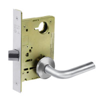 8215-LNW-26 Sargent 8200 Series Passage or Closet Mortise Lock with LNW Lever Trim in Bright Chrome