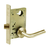 8215-LNW-04 Sargent 8200 Series Passage or Closet Mortise Lock with LNW Lever Trim in Satin Brass