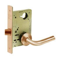 8215-LNW-10 Sargent 8200 Series Passage or Closet Mortise Lock with LNW Lever Trim in Dull Bronze
