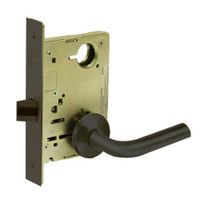 8215-LNW-10B Sargent 8200 Series Passage or Closet Mortise Lock with LNW Lever Trim in Oxidized Dull Bronze