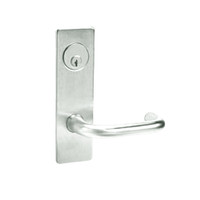 ML2068-LWM-618 Corbin Russwin ML2000 Series Mortise Privacy or Apartment Locksets with Lustra Lever in Bright Nickel