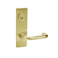 ML2048-LWM-606 Corbin Russwin ML2000 Series Mortise Entrance Locksets with Lustra Lever and Deadbolt in Satin Brass