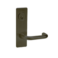 ML2065-LWM-613 Corbin Russwin ML2000 Series Mortise Dormitory Locksets with Lustra Lever and Deadbolt in Oil Rubbed Bronze