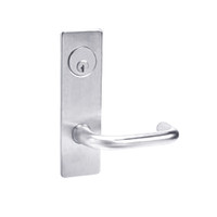 ML2065-LWM-625 Corbin Russwin ML2000 Series Mortise Dormitory Locksets with Lustra Lever and Deadbolt in Bright Chrome