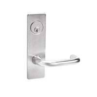 ML2065-LWM-629 Corbin Russwin ML2000 Series Mortise Dormitory Locksets with Lustra Lever and Deadbolt in Bright Stainless Steel