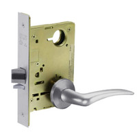 8213-LNA-26D-LH Sargent 8200 Series Communication or Exit Mortise Lock with LNA Lever Trim in Satin Chrome