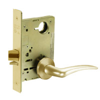 8213-LNA-03-LH Sargent 8200 Series Communication or Exit Mortise Lock with LNA Lever Trim in Bright Brass