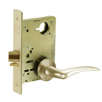 8213-LNA-04-LH Sargent 8200 Series Communication or Exit Mortise Lock with LNA Lever Trim in Satin Brass