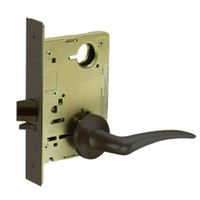8213-LNA-10B-LH Sargent 8200 Series Communication or Exit Mortise Lock with LNA Lever Trim in Oxidized Dull Bronze