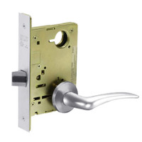 8215-LNA-26-LH Sargent 8200 Series Passage or Closet Mortise Lock with LNA Lever Trim in Bright Chrome