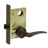 8215-LNA-10B-LH Sargent 8200 Series Passage or Closet Mortise Lock with LNA Lever Trim in Oxidized Dull Bronze