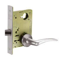 8215-LNA-32D-LH Sargent 8200 Series Passage or Closet Mortise Lock with LNA Lever Trim in Satin Stainless Steel