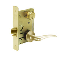 8267-LNA-03-RH Sargent 8200 Series Institutional Privacy Mortise Lock with LNA Lever Trim in Bright Brass